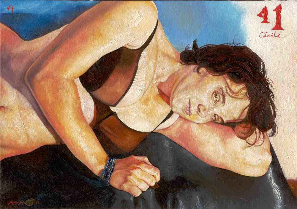 41 Cécile, óleo s/tela, 27x19cm, 2001, anderson