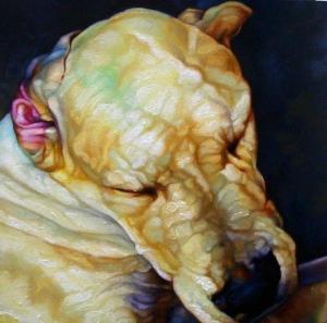 loui (cabeça II), óleo s/tela, 30x30cm, anderson